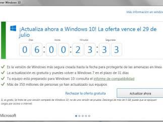 Plazo para pasarse a Windows 10