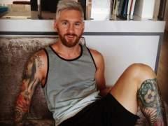 Messi revoluciona las redes con su rubio platino