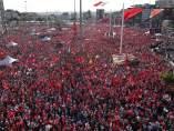 Masiva protesta en Turquía