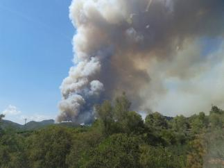 Imagen del incendio en Artana