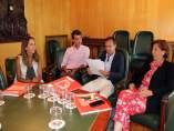 Los concejales del PP en la reunión de la sociedad ZGZ@DesarrolloExpo