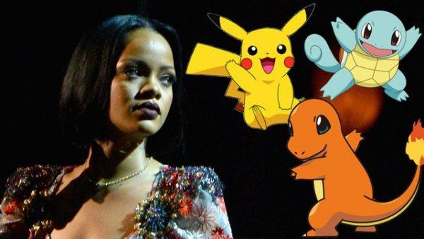 Rihanna pide a sus fans que no cacen Pokémon en sus conciertos