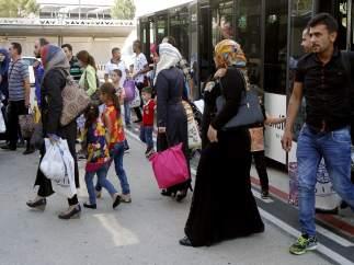 Llegada de refugiados sirios a España
