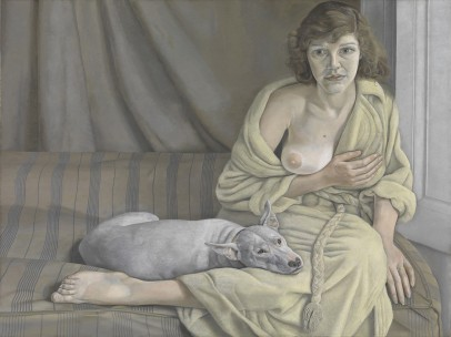 Girl with a White Dog, 1950–1951, Lucian Freud, British, born Germany, 1922–2011