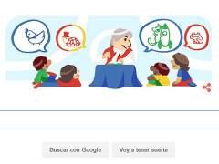 Google convierte su 'doodle' en poesía para Gloria Fuertes