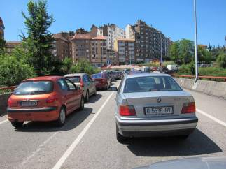 Atasco De Tráfico A La Entrada De Oviedo