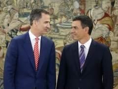 """Sánchez reitera ante el rey el 'no' del PSOE a Rajoy, pero asegura que """"habrá Gobierno"""""""