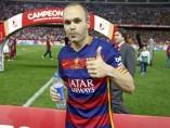 El capitán del FC Barcelona, Andrés Iniesta