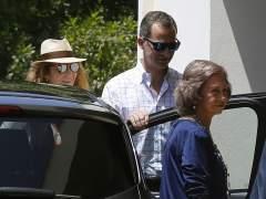 Felipe VI, su hermana Elena y los reyes eméritos celebran el cumpleaños de Pilar de Borbón