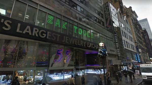 Fachada de una de las joyerías del distrito de los diamantes de Manhattan