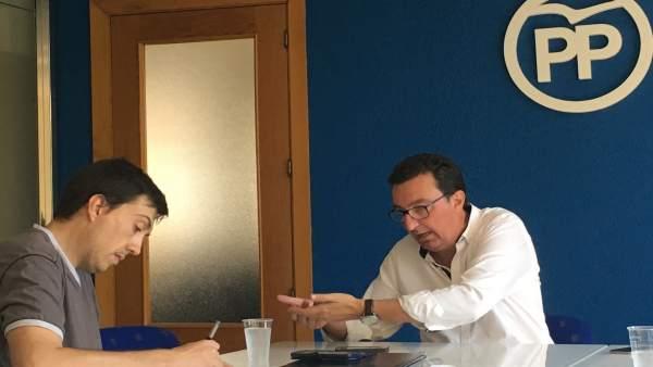 Manuel Andrés González durante una entrevista concedida a Europa Press
