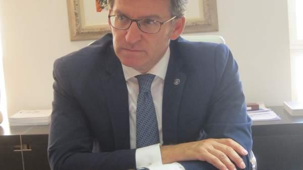 Feijóo, en una entrevista concedida con Europa Press