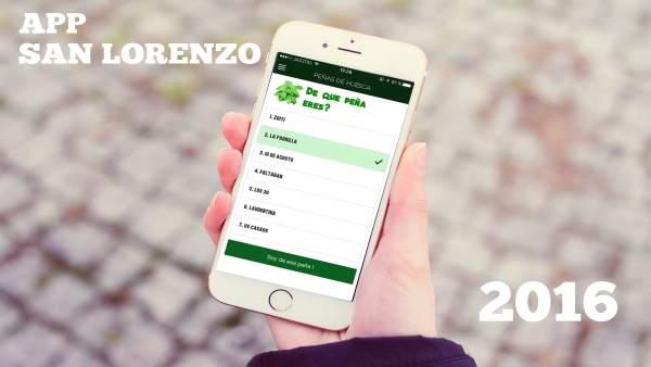 Aplicación de las Fiestas de San Lorenzo 2016