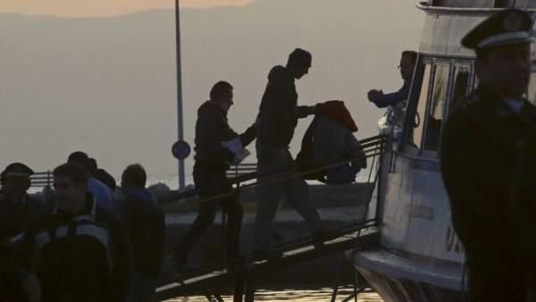 Refugiados deportados a Turquía