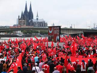 Manifestación en Colonia en apoyo a Erdogan