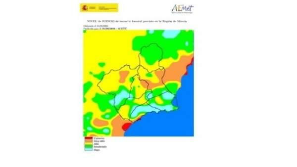 Mapa de riesgos de incendios forestales