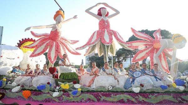 Imagen de la Batalla de Flores de Valencia