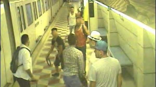 Imagen de la agresión captado por las cámaras de seguridad