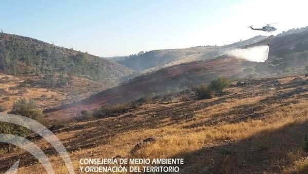 Incendio en El Cerro del Andévalo