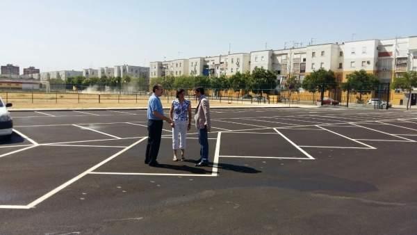 Nuevo aparcamiento Centro Deportivo Polígono Sur