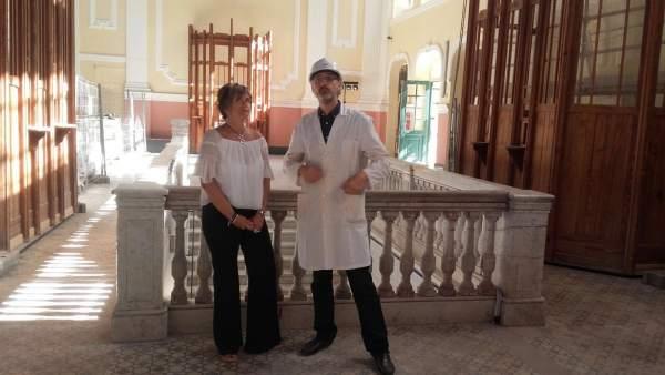 Andreu ha visitado este lunes la estación de Canfranc