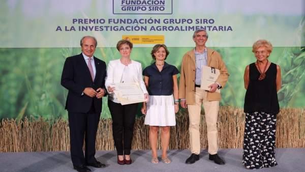González, Tamame, ministra García Tejerina, Lafraga y Urbán