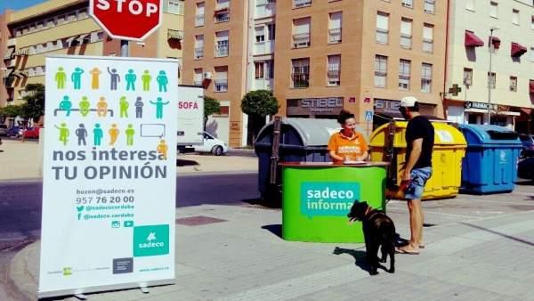 Campaña informativa de Sadeco en Córdoba