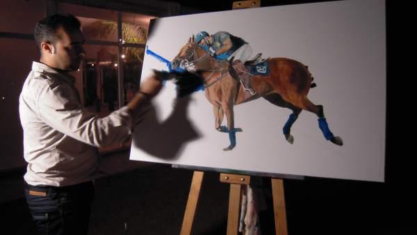 El artista Víctor Pérez