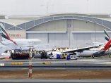 Aparatoso accidente de avión en Dubái