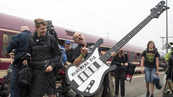 Una guitarra eléctrica muy 'heavy'