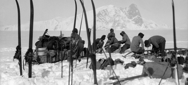 Captain Robert Falcon Scott - Foundering in soft snow