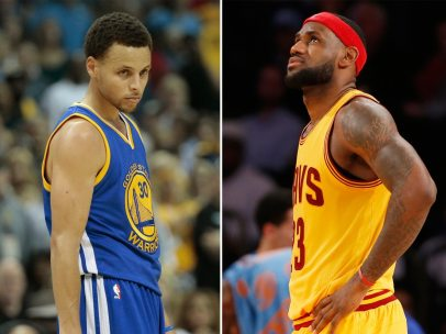 Stephen Curry y Lebron James (Baloncesto)