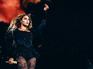 Beyoncé en su concierto de Barcelona.