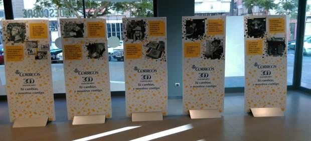 Correos expone hasta el 10 de agosto una serie de paneles for Oficina internacional de origen correos