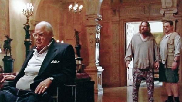 Huddleston, durante una secuencia de 'El Gran Lebowski'.