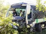 Autobús siniestrado en Málaga