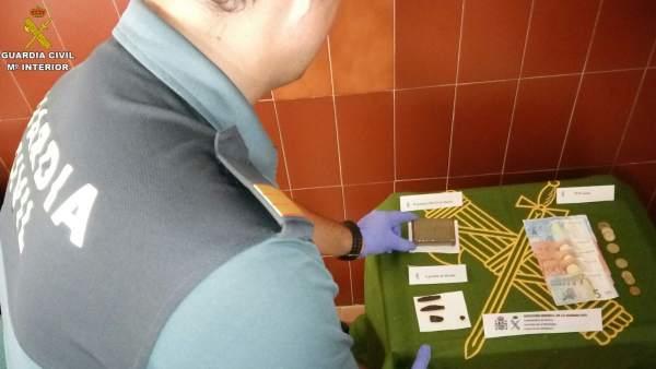 Actuación de la Guardia Civil contra el tráfico de drogas