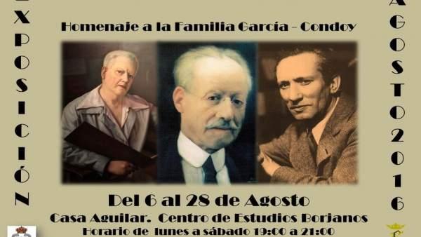 Cartel de la exposición que se puede ver en Borja hasta final de mes