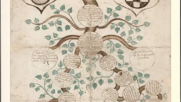 Uno de los árboles genealógicos de la colección de Vicente Paredes