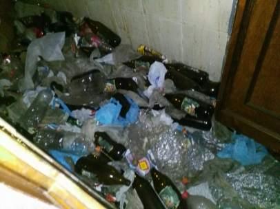 Imagen de la basura acumulada por el vecino de Zamora