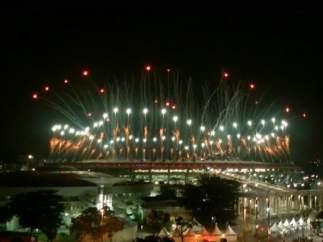 Fuegos artificiales en la ceremonia de apertura de Río 2016 en el mítico estadio de Maracaná
