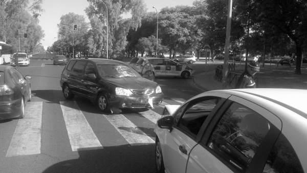 Estado de los coches tras el accidente