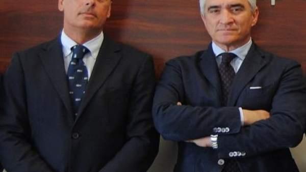 Jaime Muñoz Vithas y Jose Cutiño plaza toros La Malagueta