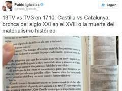 Pablo Iglesias enfrenta a Cataluña con Castilla con un tuit polémico