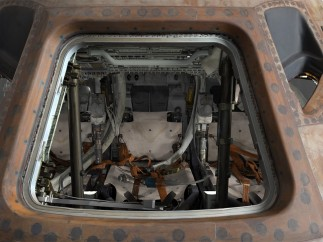 3-D Rendering (looking through hatch)