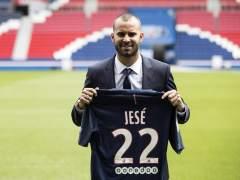 Jesé, durante su presentación con el PSG.