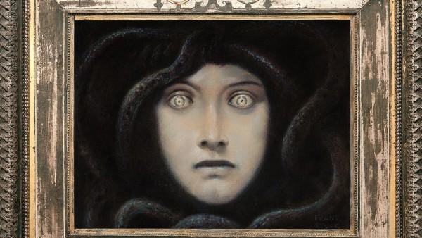 Franz von Stuck, Head of Medusa, c. 1892