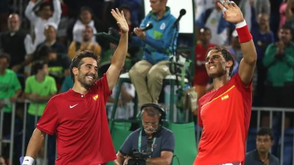 Rafa Nadal y Marc López