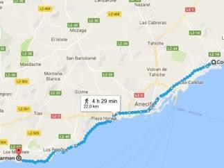 Lanzarote tendrá el paseo marítimo más largo del mundo, con más de 26 kilómetros