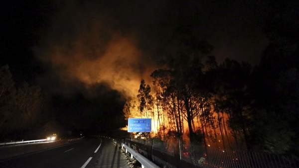 Incendio en Galicia